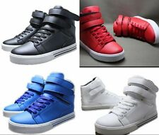 New Arrival Men Casual Shoes Fashion High-top Magic Buckle Walking Sneakers