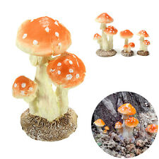 Mushroom Toadstool Miniature Fairy Garden Terrarium Figurine Dollhouse Decor