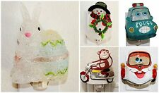 Assorted Night Light Decor. Easter Rabbit Winter Snowman Cars Motorcycle Monkey