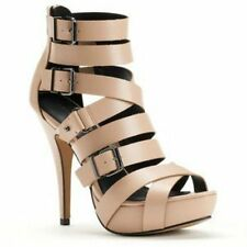 ROCK & REPUBLIC CORSON~NUDE STRAPPY HIGH HEELS U.S. SIZE 6,7,9.5,10;NIB