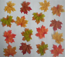 100/200/500/1000pc Fall Silk Leaves Wedding Favor Autumn Maple Leaf Decorations