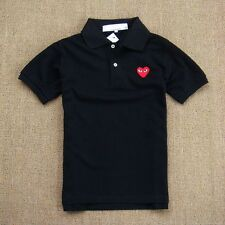 CDG PLAY Comme des Garcons BLACK POLO red heart FREE SHIPPING tee tshirt