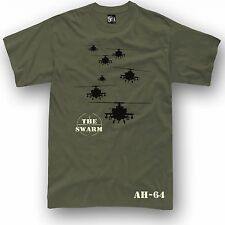 Apache AH-64 t-shirt THE SWARM Military US Army Attack helicopter S - 5XL