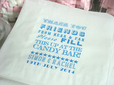 Personalised Paper Sweet Bags - NEW Retro Design-Wedding Candy Cart Sweet Buffet