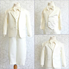Baby Toddler Teen boy Ivory tuxedo formal suit graduation wedding party all size