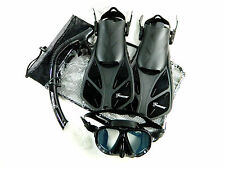 Seavenger Diving Set Adult Size Dry Snorkel Trek Fin Mask Gear Bag