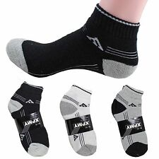 New 12 Pairs Ankle/Quarter Crew Mens Socks Cotton low cut 10-13 Black LOT ADAS