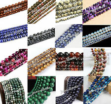Natural Gemstone Round Spacer Loose Beads Multi Color 4mm 6mm 8mm 10mm 12mm Hot