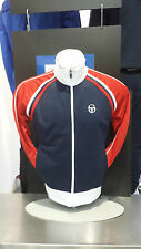 Sergio Tacchini tracksuit top. Navy and white colour ways.