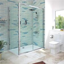Chrome 6mm Glass Sliding Door Shower Enclosure Cubicle Side Panel Stone Tray