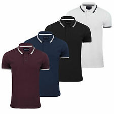 Mens Polo T-Shirt Brave Soul Hero Cotton Short Sleeve Top Twin Tipped Pique New