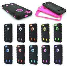 Black Tyre Hybrid Silicone Rubber Hard Case Cover Skin For Apple iPhone 6 Plus