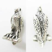 HAWK BIRD OF PREY EAGLE 925 Sterling Silver Charm Pendant W converters or Chain