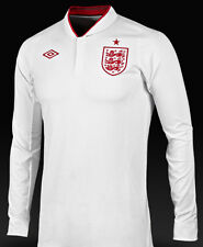 "Retro Mens England Home Football Shirt Mens 48"" 46"" chest XL Long sleeve"