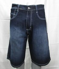 SOUTH POLE MEN'S DENIM LONG SHORTS RELAXED FIT DARK SAND BLUE
