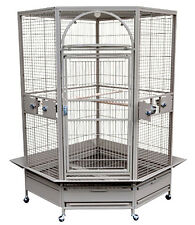 KINGS CAGES GC14022 CORNER PARROT CAGE bird toys African Grey Macaw Cockatoo