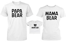 Daddy Mommy and Baby Matching Bear Family T-Shirt and Infant Tee - Family Shirts