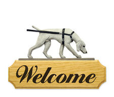 Weimaraner - Tracking  Welcome Sign. Home,Yard & Garden Dog Products & Gifts.