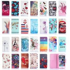Retro Pattern PU Leather Stand Flip Wallet Case Covers For Apple iPhone 6 Plus 6