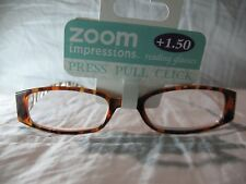 Zoom Impressions Brown or Purple Striped Reading Glasses +1.25 1.50 2.00 2.50