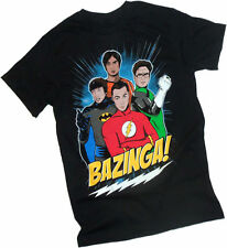 The Big Bang Theory: Bazinga! Illustrated Cast in Comic Hero Costumes -- T-Shirt