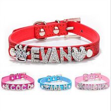 Bling Personalized Dog Collar with Rhinestone Buckle DIY Name Collar Necklace