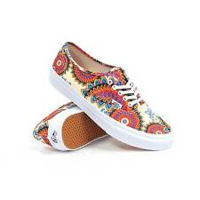 Vans Authentic Slim (Geo Floral Magenta/True White) Women's Shoes