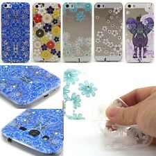 Ultra Slim Clear Transparent TPU Silicone Soft Gel Case Cover For Cell Phone