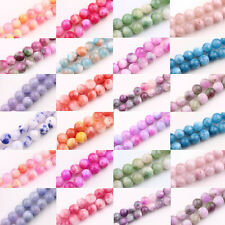 Lots 30/40/50Pcs Charms Glass Persia Jade Round Loose Spacer Beads 6mm 8mm 10mm