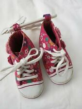 "Infant Pink Flower ""Mini Kacy"" High-Top Sneakers White Pink Orange Floral lace"
