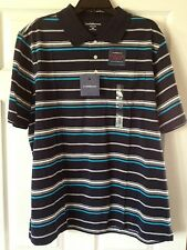 $34 NWT CROFT&BARROW MENS EASY CARE STRIPED SHORT SLEEVE POLO GOLF SHIRTS