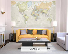 Giant Sized Canvas World Map - Classic