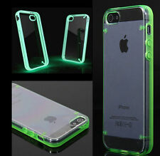 Ultra Thin Transparent Gel Skin Hybrid Case Cover Luminous Glow For iPhone 5s 4s
