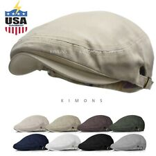 Buckle Cotton Gatsby Cap Mens Ivy Hat Golf Driving Summer Sun Flat Newsboy