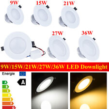 White 9W 15W 21W 27W 36W Dimmable LED Recessed Ceiling Spot Down Light Bulb 2015