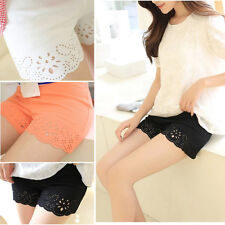 Women Summer Hollow Sexy Fashion Under Safety Pants Outerwear Shorts Leggings