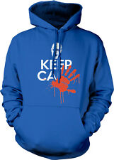 Keep Calm Zombie Blood Hand Print Dead Walking And Carry On Hoodie Sweatshirt