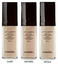 CHANEL LIFT LUMIERE smoothing FLUIDO beige Foundation-Clair PETALE NATUREL 30ML