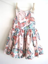 New Girls butterfly party summer dress age 2-3 3-4 5-6 6-7 7-8 9-10 11-12 12-13