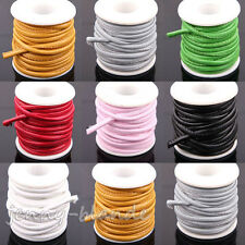 1/5m Solid Round Faux Leather Cord PU Thread Wire Bracelet Finding String 6MM