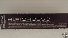 Loreal HI RICHESSE Creme Hair Color 1.7 oz~Lot Of 4~WORLD WIDE FREE SHIPPING