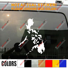 Map of Philippines Car Decal Sticker outline Filipine