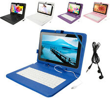 """Multi-Color Oshion 16GB 10.1"""" Android 4.4 Quad Core Tablet Cameras w/ Keyboard"""
