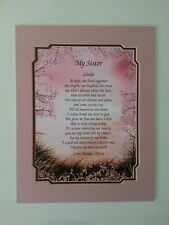 PERSONALIZED SISTER POETRY GIFT FOR BIRTHDAY, CHRISTMAS, WEDDING DAY ...
