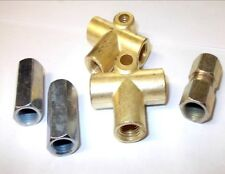 Copper Brake Pipe Ends Fittings Connectors Unions Metric & 3/8 UNF 2 & 3 Way