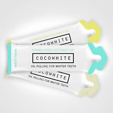 8 X SACHETS ALL FLAVOURS COCOWHITE OIL PULLING NATURAL TEETH WHITERNING MOUTH