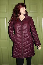 CALVIN KLEIN WOMENS PACKABLE DOWN FILLED LONG JACKET 3 COLORS  SMALL & MED. NWT