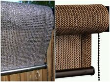 Petra's 4 Foot Wide x 6 Foot Long Black or Cabo Sand Roll Up Sun Shade