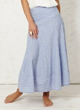 Braintree Blue Stripe Long Multi Skirt Elasticated Waist Convert to Summer Dress