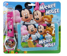 Lot Mickey Minnie Wristwatch watch and Purses Wallets Kids Party Favors A23